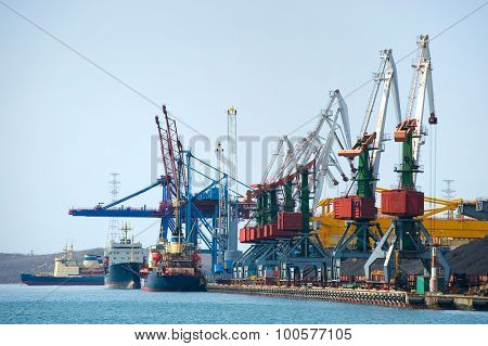 cargo terminal at russian port Vladivostok