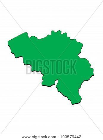 Vector Map of the Country of Belgium