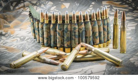 Camouflage Ammunition Belt.