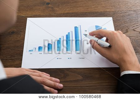 Businessperson Analyzing Financial Result