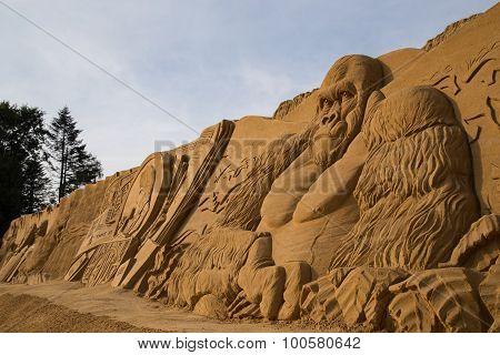 King Kong Sand Sculpture