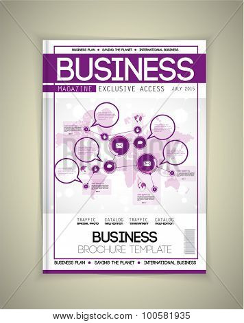 Cover business magazine, vector