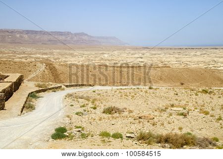 Road In Israel Desert