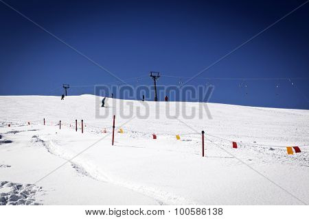 Ski slope - winter vacation