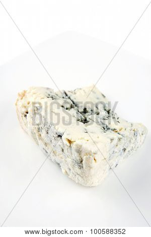 soft moldy gorgonzola cheese on white cheese