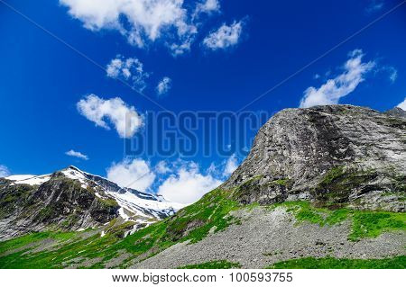 Norwegian Mountains Ridge, Summertime Landscape