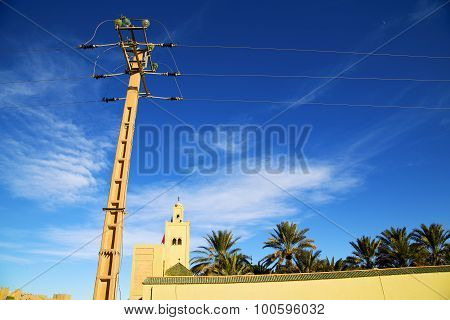 The History  Symbol  In Electrical Line High Voltage Power    Sky