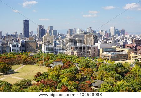 View Of Osaka Downtown