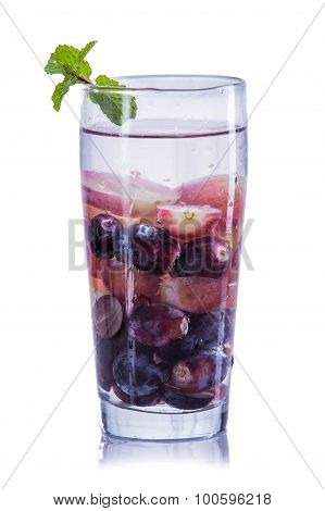 Infused Water Mix Of Purple Grape And Red Grapes