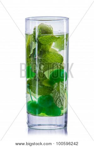 Infused Water Mix Of Cherry And Mint