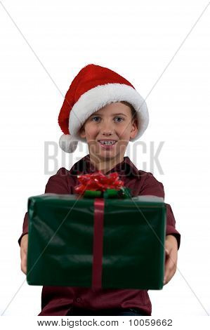 Boy Giving A Present