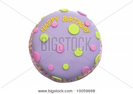 Happy birthday fondant cake