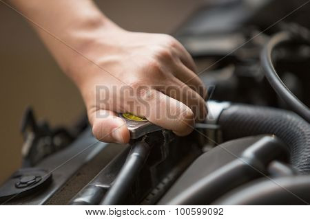 Radiator Pressure Cap Of Car's Engine