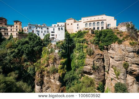 The Tajo De Ronda Is A Gorge Carved By The Guadalevin River, On