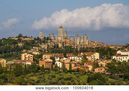 City Line Of San Gimignano-san Gimignano, Italy