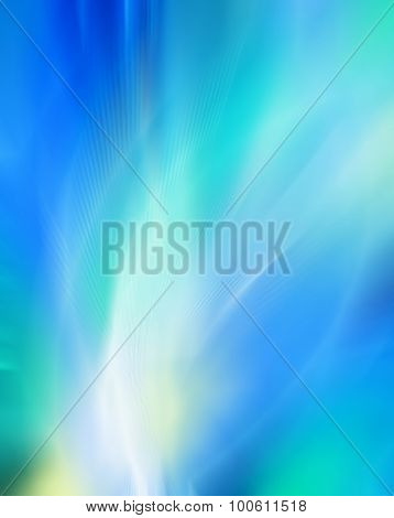 Abstract blue background rich colors, beautiful, soft blurred colored rainbow