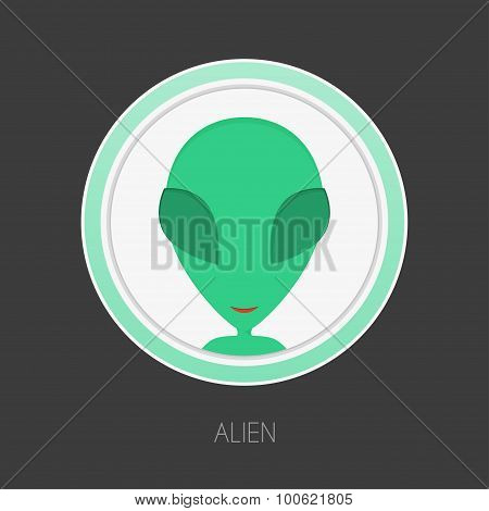 Alien face avatar.