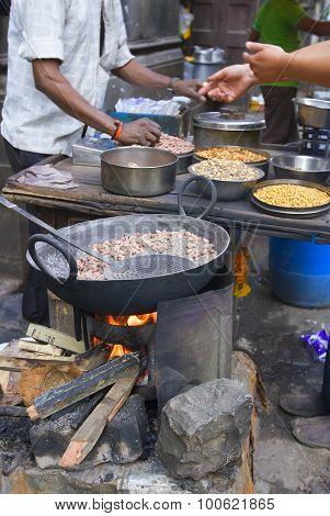 Streets Of Bombay (mumbai, India) Traditional Street Food