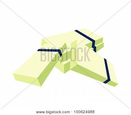 Pile of Bank Note Money on White Background