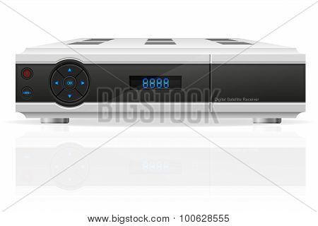 Digital Satellite Receiver Vector Illustration