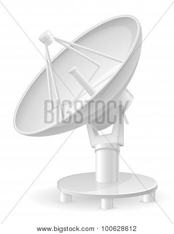 Satellite Dish Vector Illustration