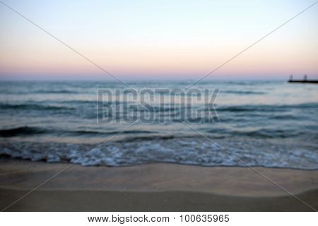 View of beautiful sunset on the beach