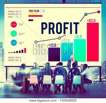 Profit Benefit Financial Income Growth Concept