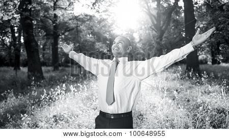 Business Relaxation Refreshing Freedom Nature Concept