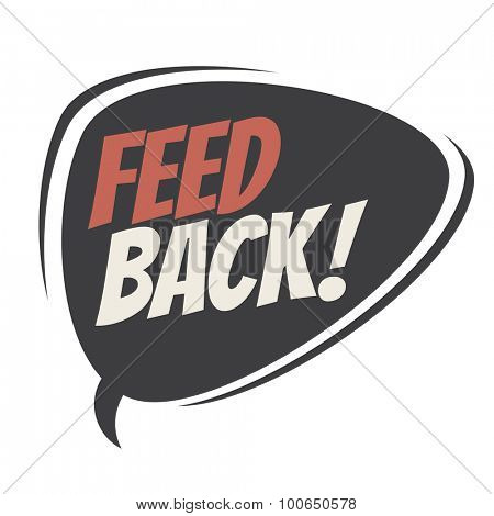 feedback retro speech balloon