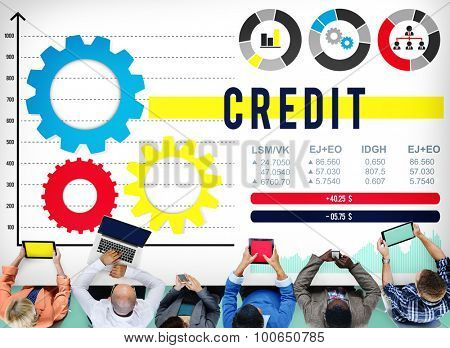 Credit Financial Investment Money Debt Banking Concept