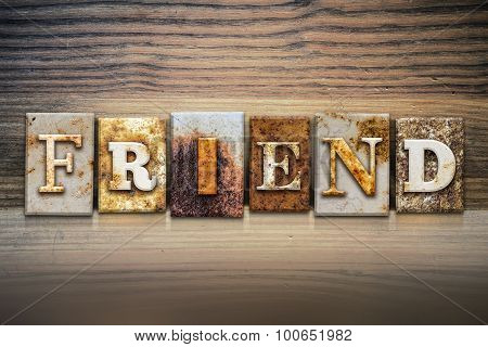 Friend Concept Letterpress Theme