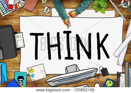 Think Idea Creative Intelligence Solution Concept