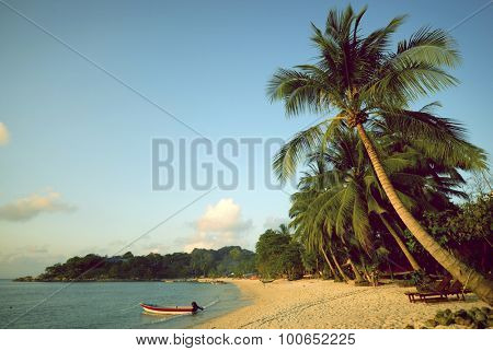 Tropical beach Seascape Tropical Island Concept