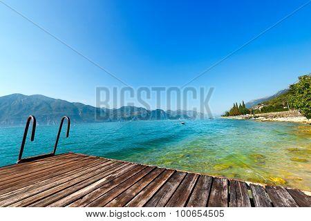Garda Lake With Small Pier - Italy