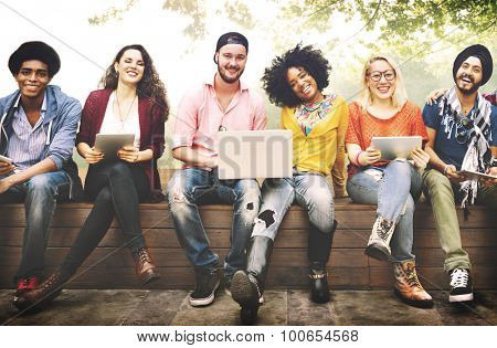 Teenagers Young Team Together Cheerful Concept