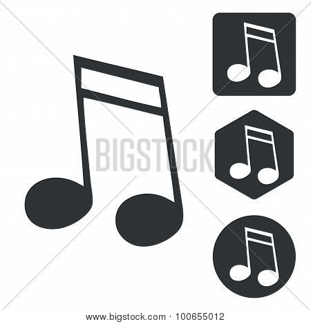Music icon set 2, monochrome
