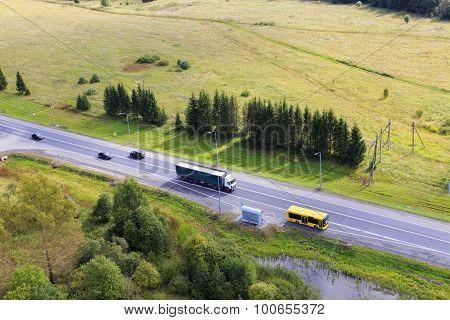 highway top view