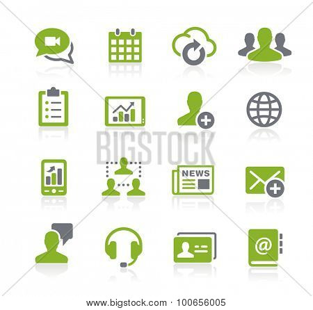 Business Network Icons // Natura Series