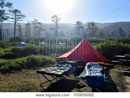 Camping at Cape Lookout