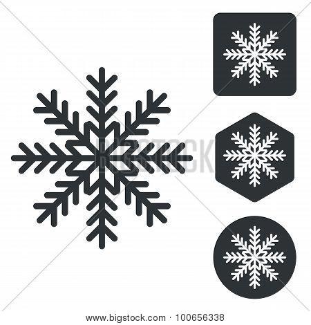 Cold icon set, monochrome