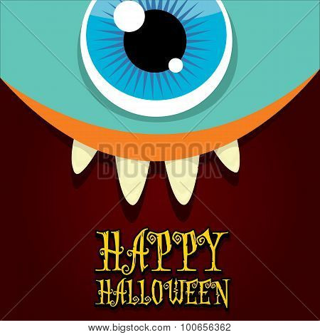 monster face vector. halloween greeting card