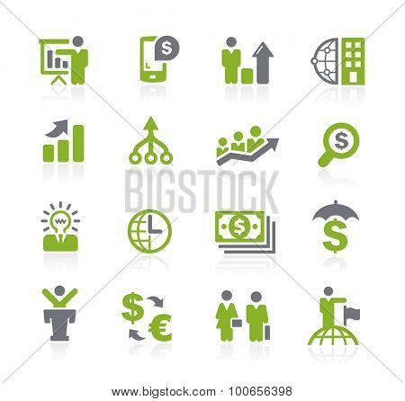 Business and Finance Icons // Natura Series