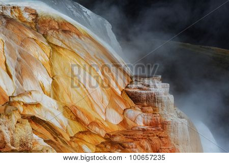Mammoth Hot Springs in Yellowstone NP,USA