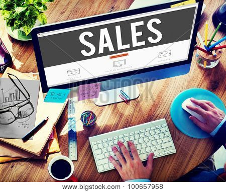Sales Economy Marketing Financial Good Concept
