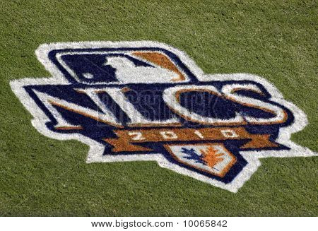 Nlcs 2010 Logo Painted On The Grass Field