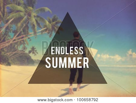 Endless Summer Beach Friendship Holiday Vacation Concept