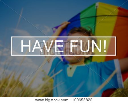 Have Fun Summer Friendship Beach Vacation Concept