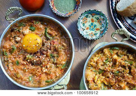 Turkish food Menemen