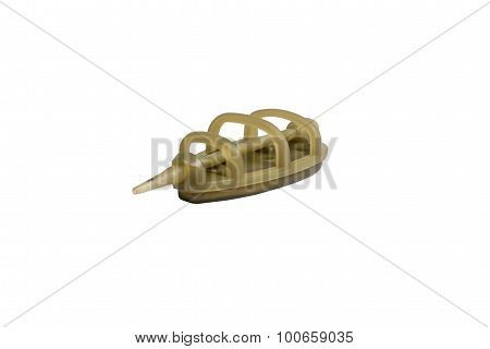 Fishing Feeder Isolated On A White Background