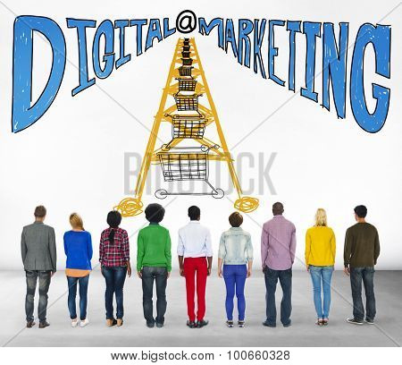 Digital Marketing Online Communication Website Concept